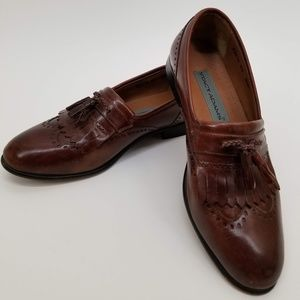 STACY ADAMS Mens Shoes  Brown Leather Sz 8.5